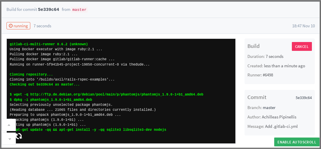 doc/ci/quick_start/img/build_log.png